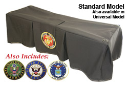 Church Truck Drape Honoring Service Black