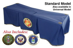 Church Truck Drape Honoring Service Navy