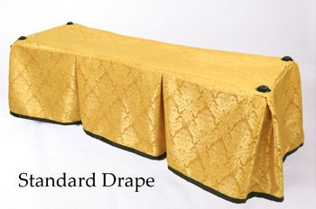 Church Truck Drape Carlisle Gold